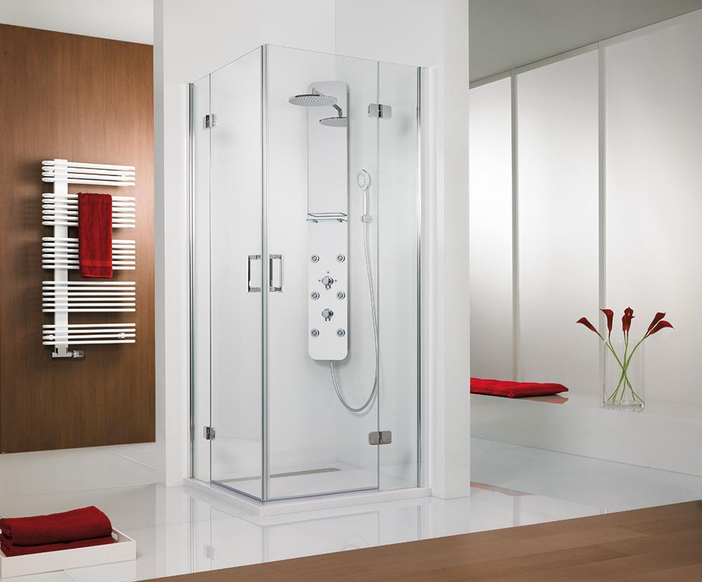 hsk duschkabine eckeinstieg 4 teilig softcube bad elegant. Black Bedroom Furniture Sets. Home Design Ideas