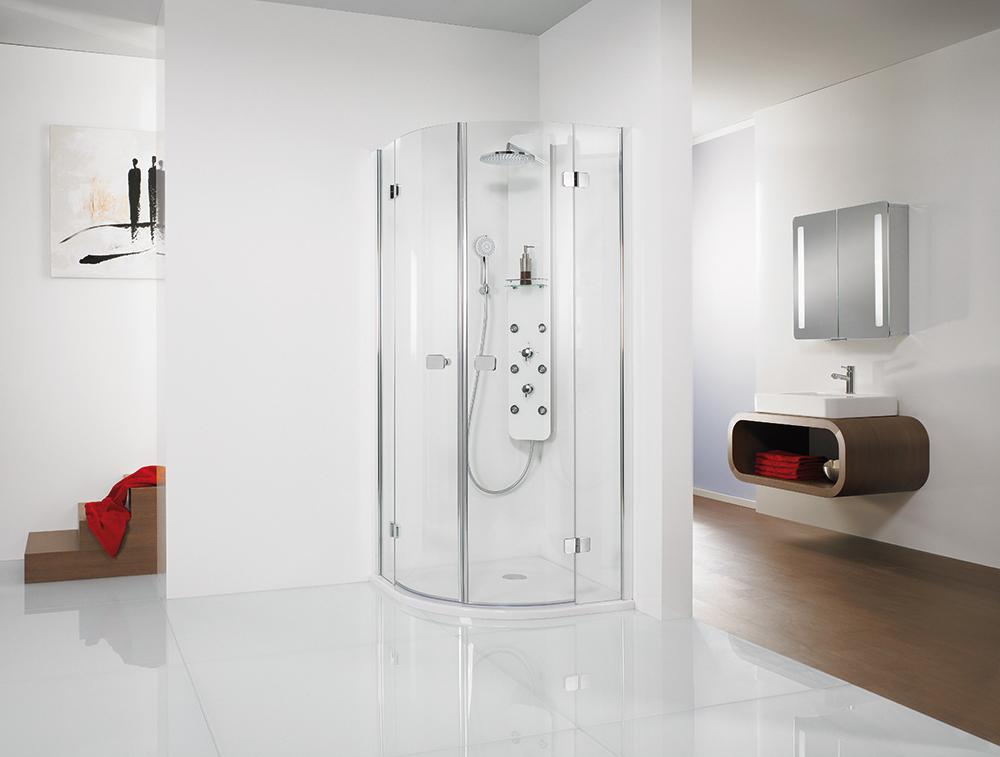 hsk duschkabine runddusche 4 teilig premium softcube bad elegant. Black Bedroom Furniture Sets. Home Design Ideas