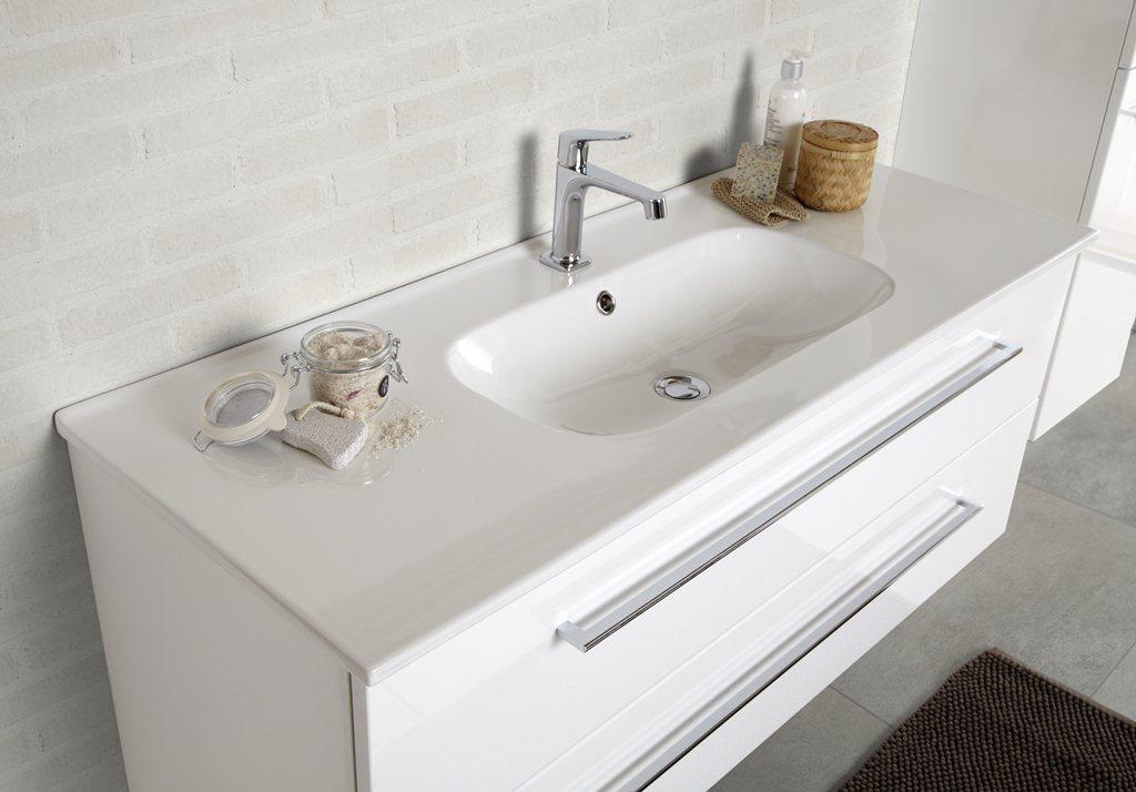 Doppelwaschtisch mit unterschrank weiß  Waschtisch mit Unterschrank LUNA Kantate (Dansani) - Bad-Elegant
