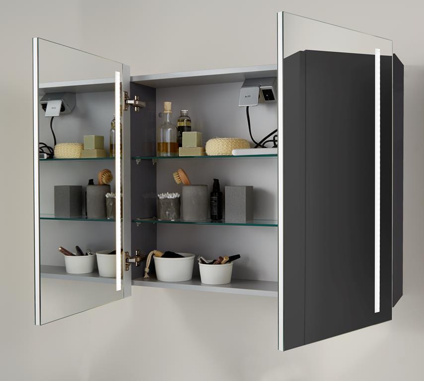 Badm bel set waschtisch mit led spiegelschrank scanbad bad elegant - Scanbad spiegelschrank ...