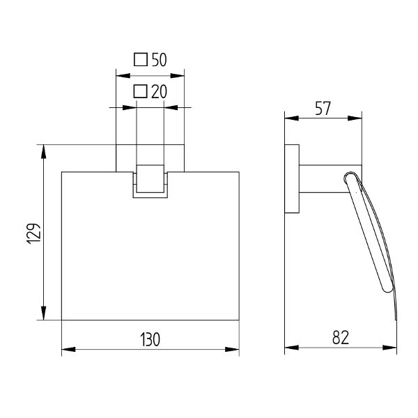 avenarius serie420 papierhalter mit deckel f r wandmontage bad elegant. Black Bedroom Furniture Sets. Home Design Ideas