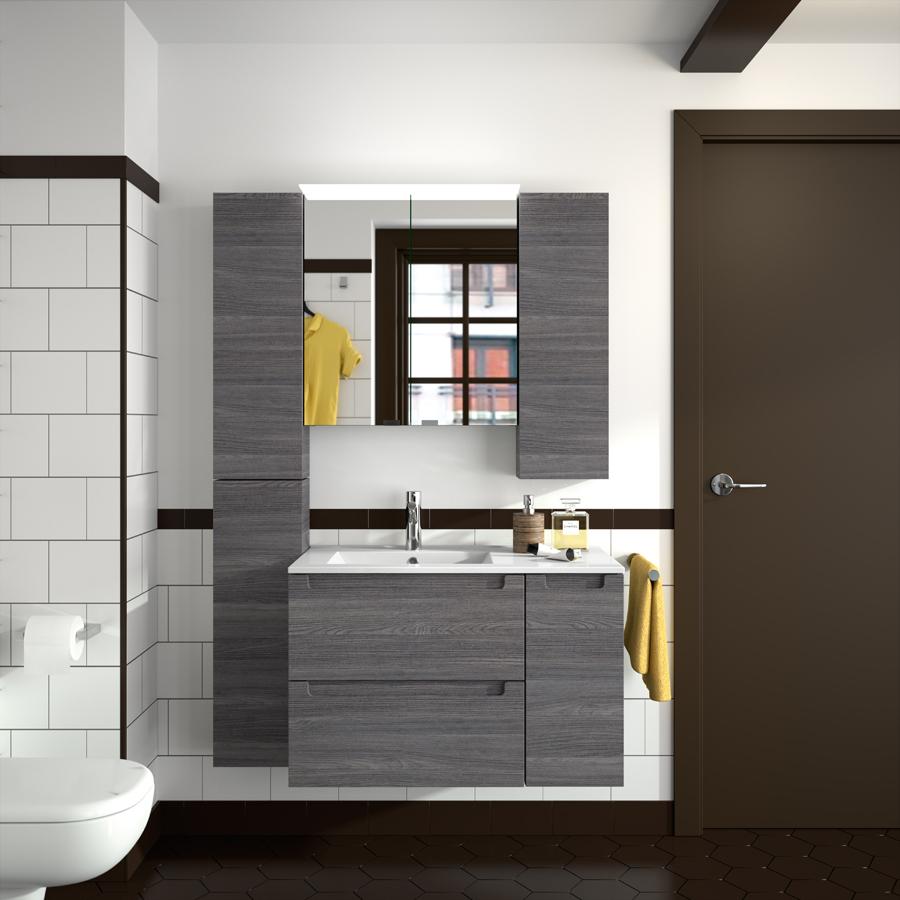 salgar monterrey set waschtisch mit unterschrank spiegelschrank und spiegel 80 100cm alsace. Black Bedroom Furniture Sets. Home Design Ideas