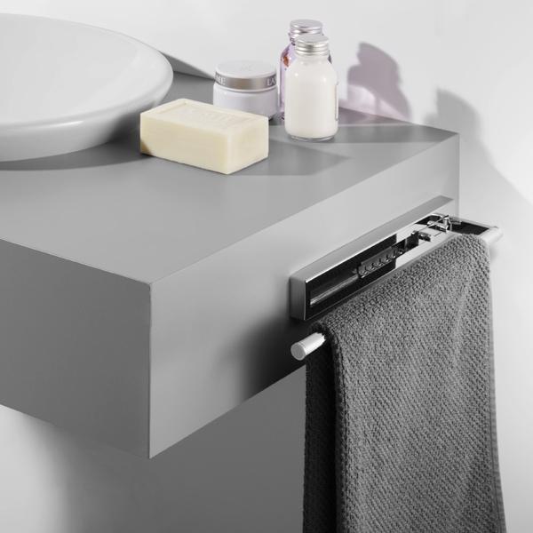 avenarius universalartikel handtuchhalter 2 fach ausziehbar 32cm bad elegant. Black Bedroom Furniture Sets. Home Design Ideas