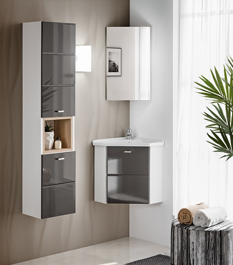 comad finka grey badm bel g ste wc hochschrank und eckwaschtisch mit unterschrank 40cm. Black Bedroom Furniture Sets. Home Design Ideas