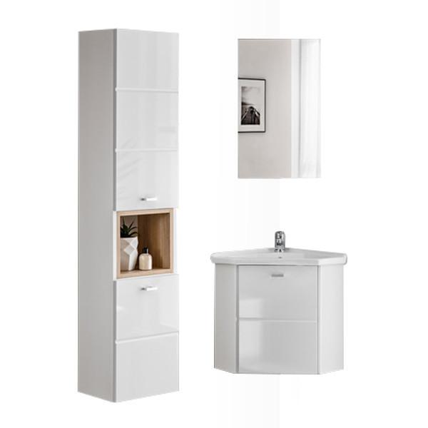 comad finka white badm bel g ste wc hochschrank und eckwaschtisch mit unterschrank 40cm. Black Bedroom Furniture Sets. Home Design Ideas