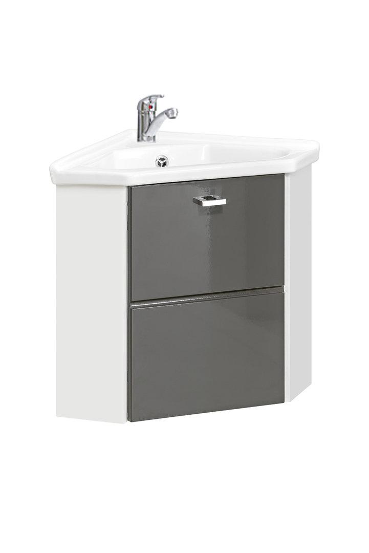 comad finka grey g ste wc eckwaschtisch mit unterschrank 40cm eckmontage bad elegant. Black Bedroom Furniture Sets. Home Design Ideas