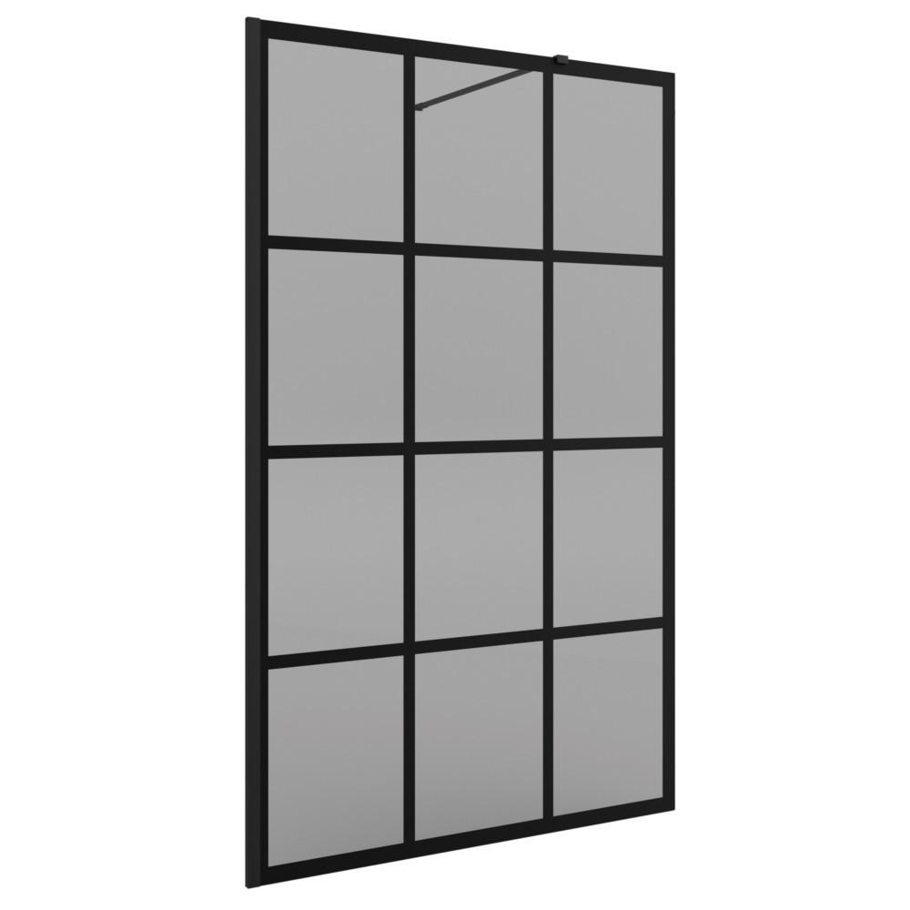 Glas Duschabtrennung.Salgar Heaven Black Duschabtrennung Walk In Profil Schwarz Glas Getönt Siebdruck Rahmen