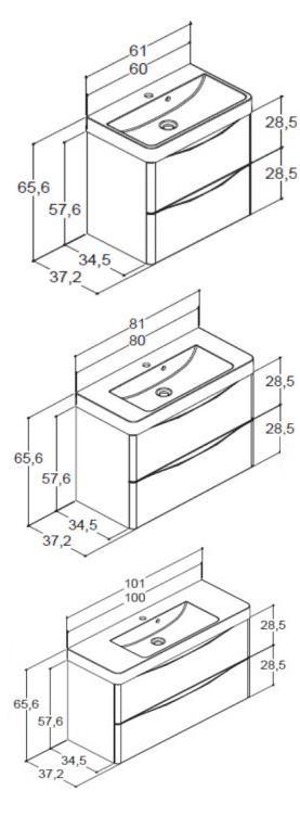 waschtisch mit unterschrank wei samba scanbad bad elegant. Black Bedroom Furniture Sets. Home Design Ideas