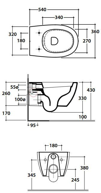 wand wc ma e wand wc round mit absenkautomatik sitz ebay. Black Bedroom Furniture Sets. Home Design Ideas