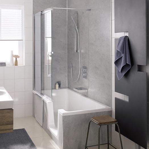 hsk badewannenaufsatz gleitt r 2 teilig mit clipsprofil. Black Bedroom Furniture Sets. Home Design Ideas