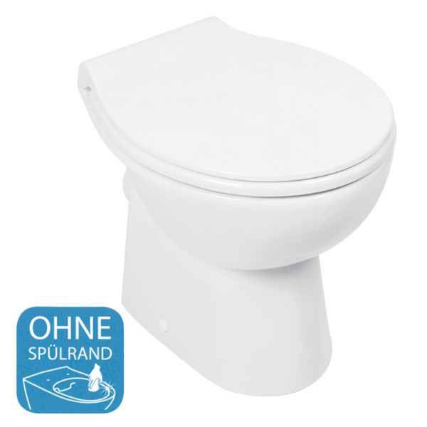 Gut bekannt Stand-WC ohne Spülrand PARI (Soltar) - Bad-Elegant GO84