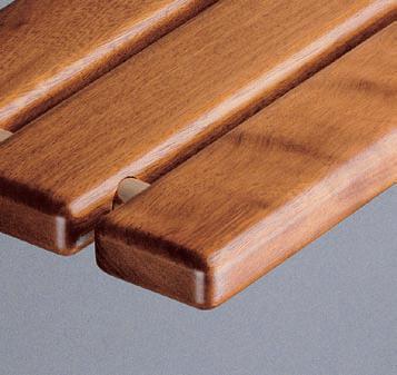 Beliebt ProMed 200 Holz Duschklappsitz, Saunasitz, Iroko-Holz Chrom TÜV QW11