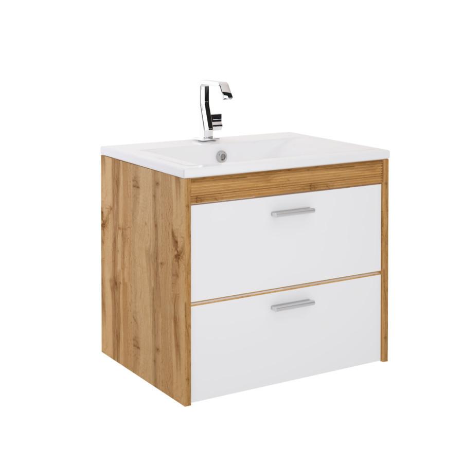 Comad Ibiza Waschtisch Mit Unterschrank Weiß Hochglanz 60cm Bad