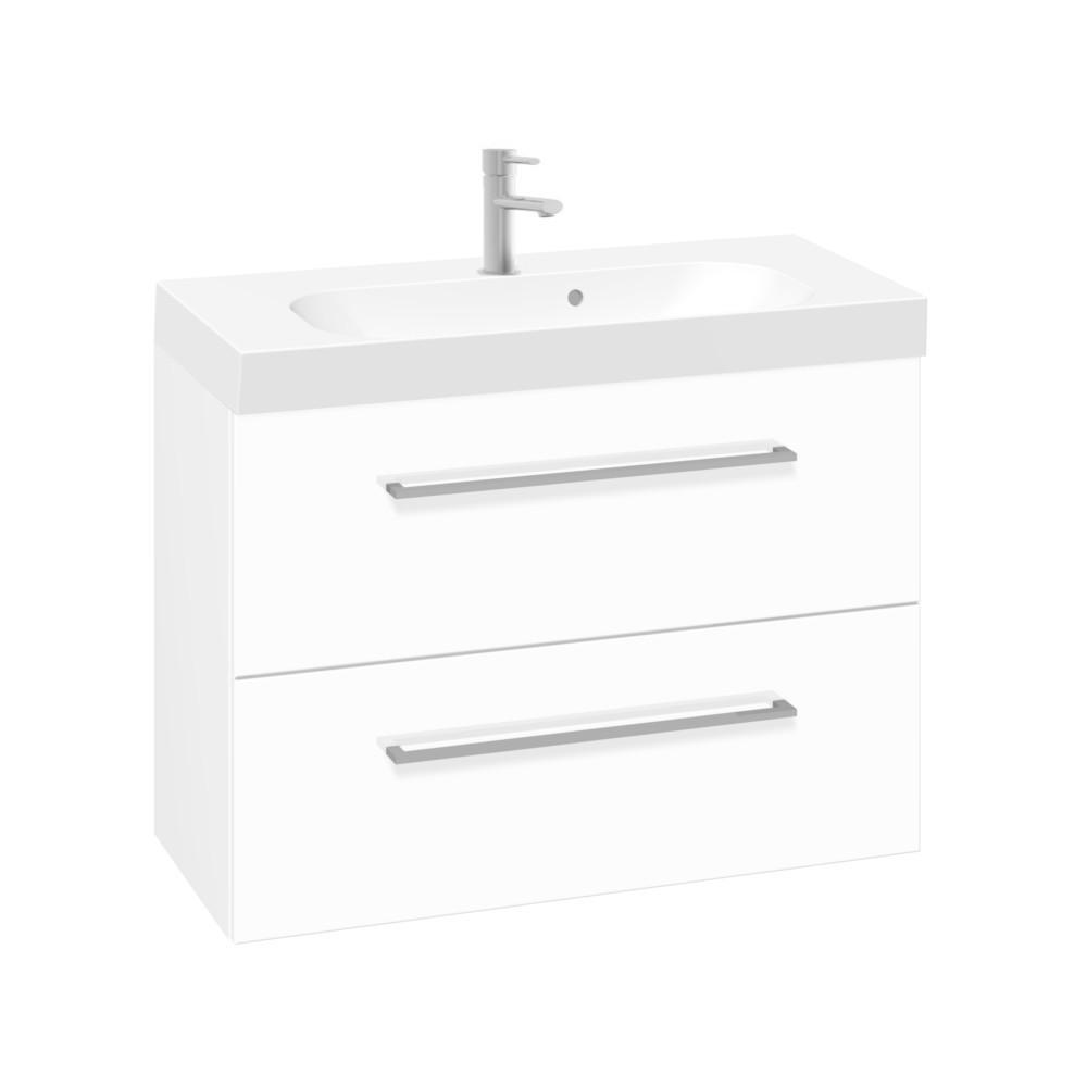 Scanbad Multo Waschtisch Mit Unterschrank Weiß Hochglanz 60 90cm