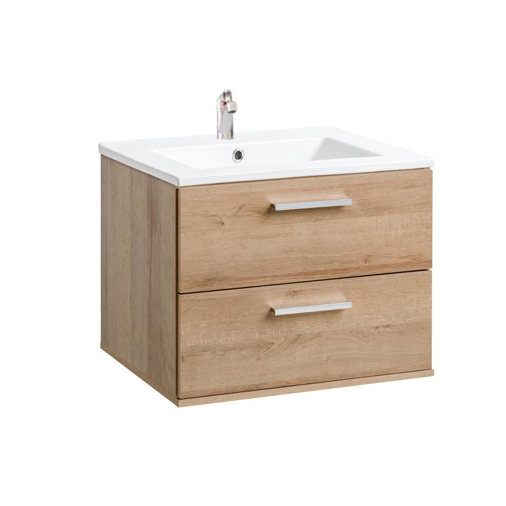 Comad Remik Riviera Oak Badmöbel Waschtisch Mit Unterschrank 60 80cm