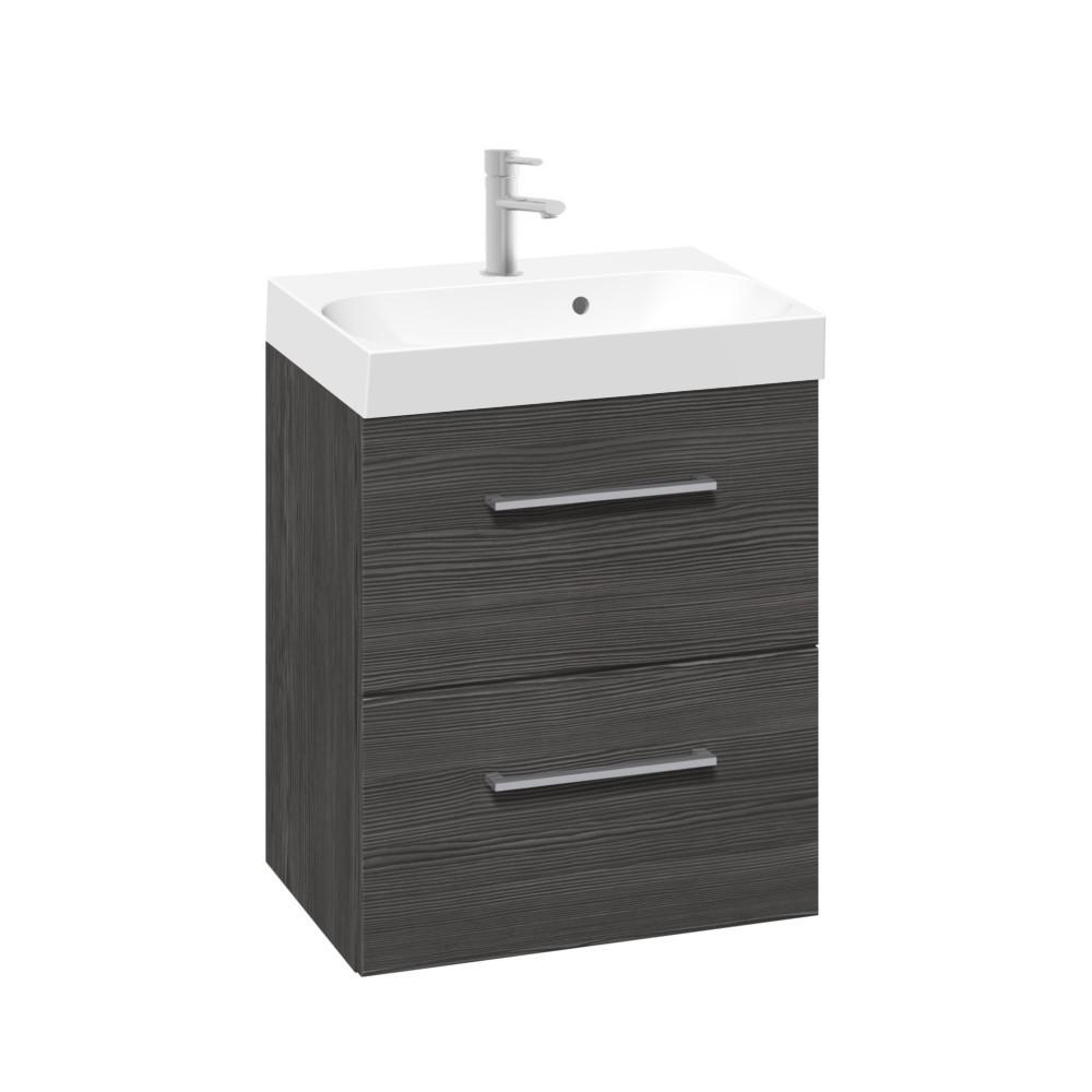 Scanbad Multo+ Gäste-Bad Waschtisch mit Unterschrank Pine-grey 50cm