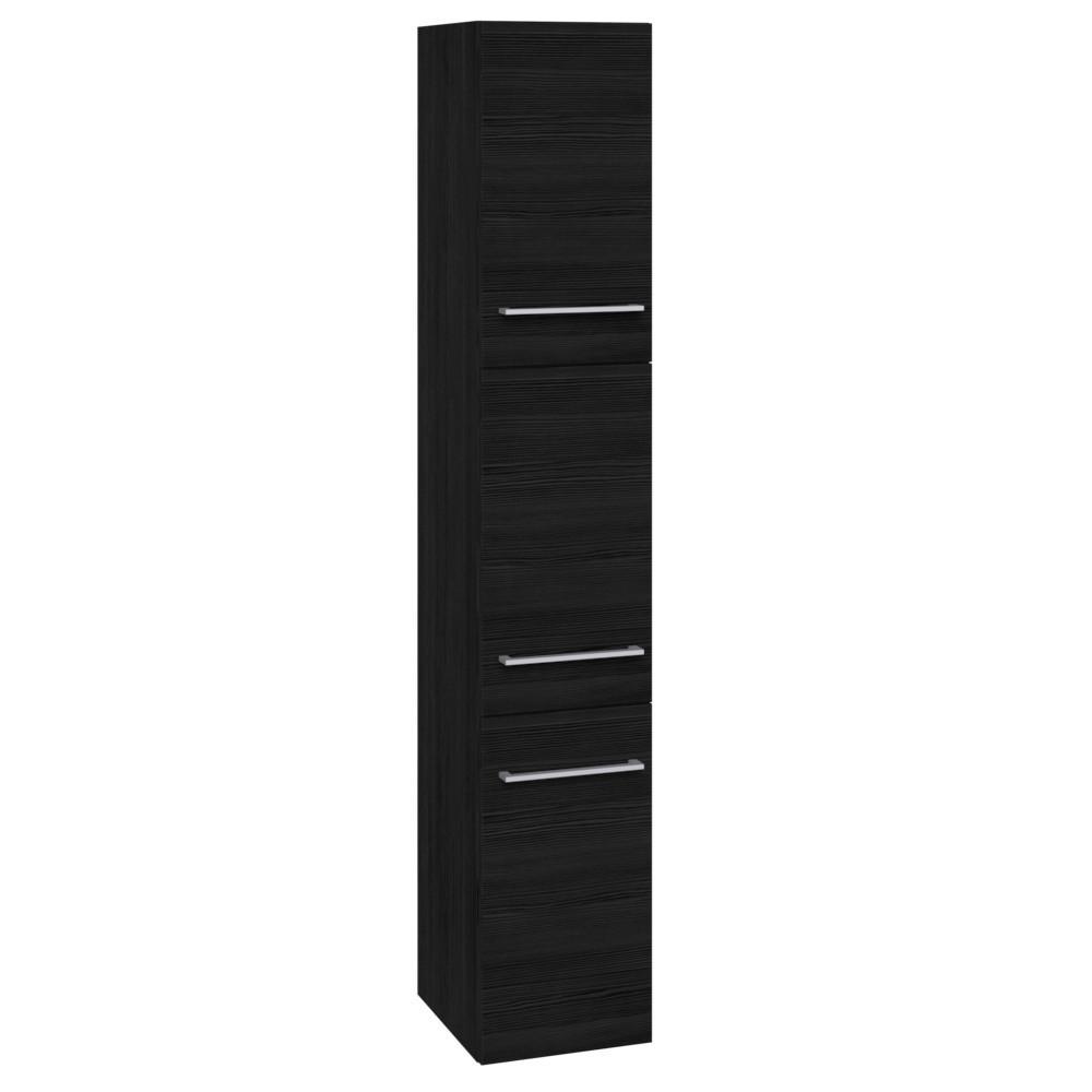 Scanbad Multo Hochschrank Mit 3 Turen 173x30cm Schwarz Struktur