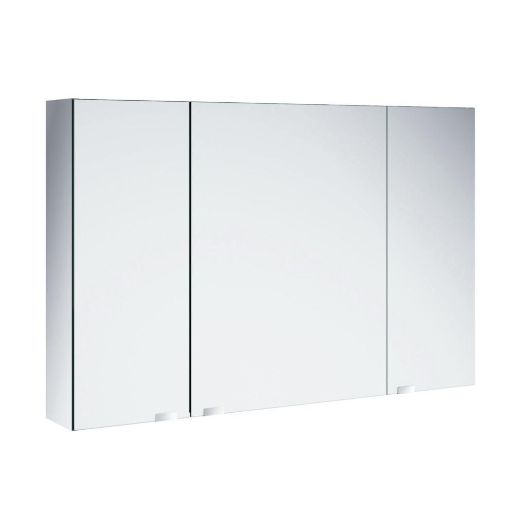 Salgar Alliance Spiegelschrank, verspiegelte Seiten Schalter und Steckdose  90-120cm