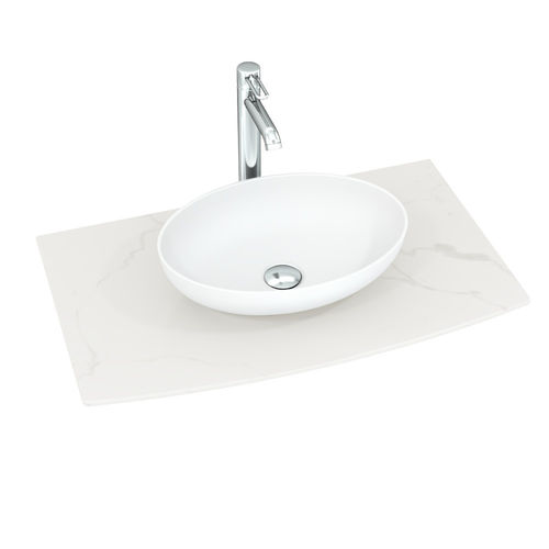 Dansani Sonate Solid Surface Waschtisch, Tischplatte: Marmorlook 60-100cm