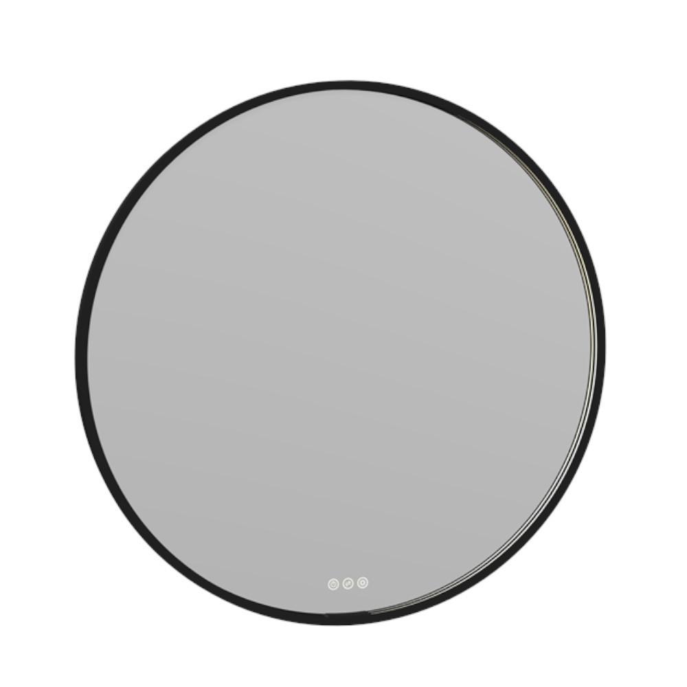 spiegel schwarzer rahmen rund